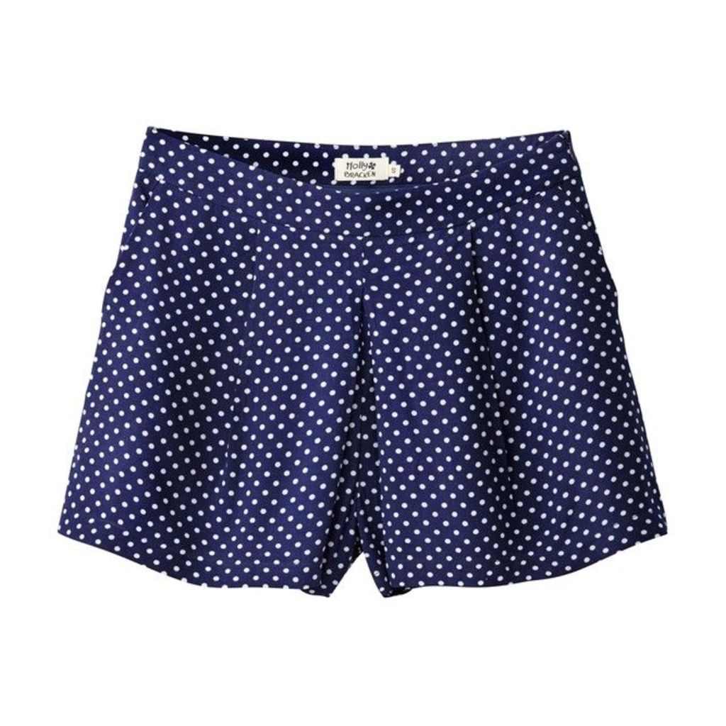 Ladies Woven Skirt-Effect Pleated Shorts