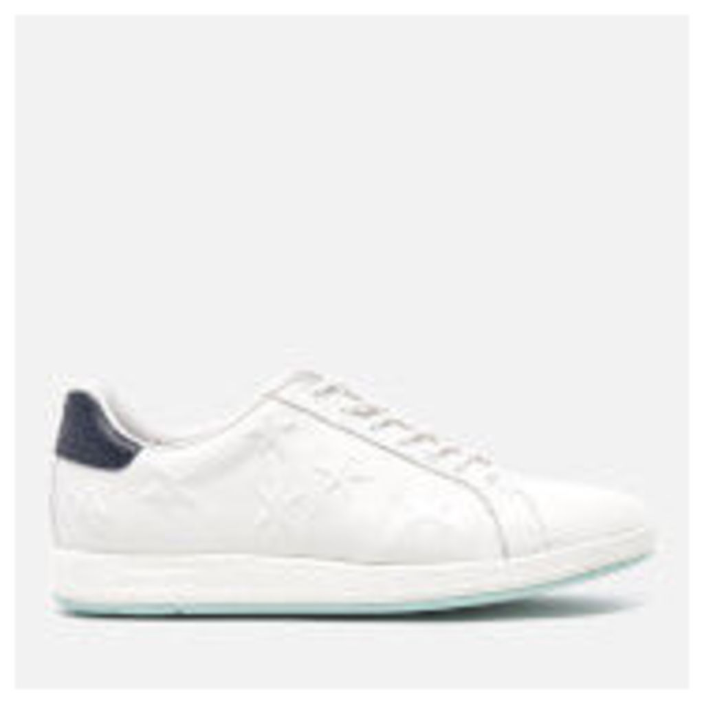 PS by Paul Smith Women's Lapin Star Embossed Trainers - White Mono Lux