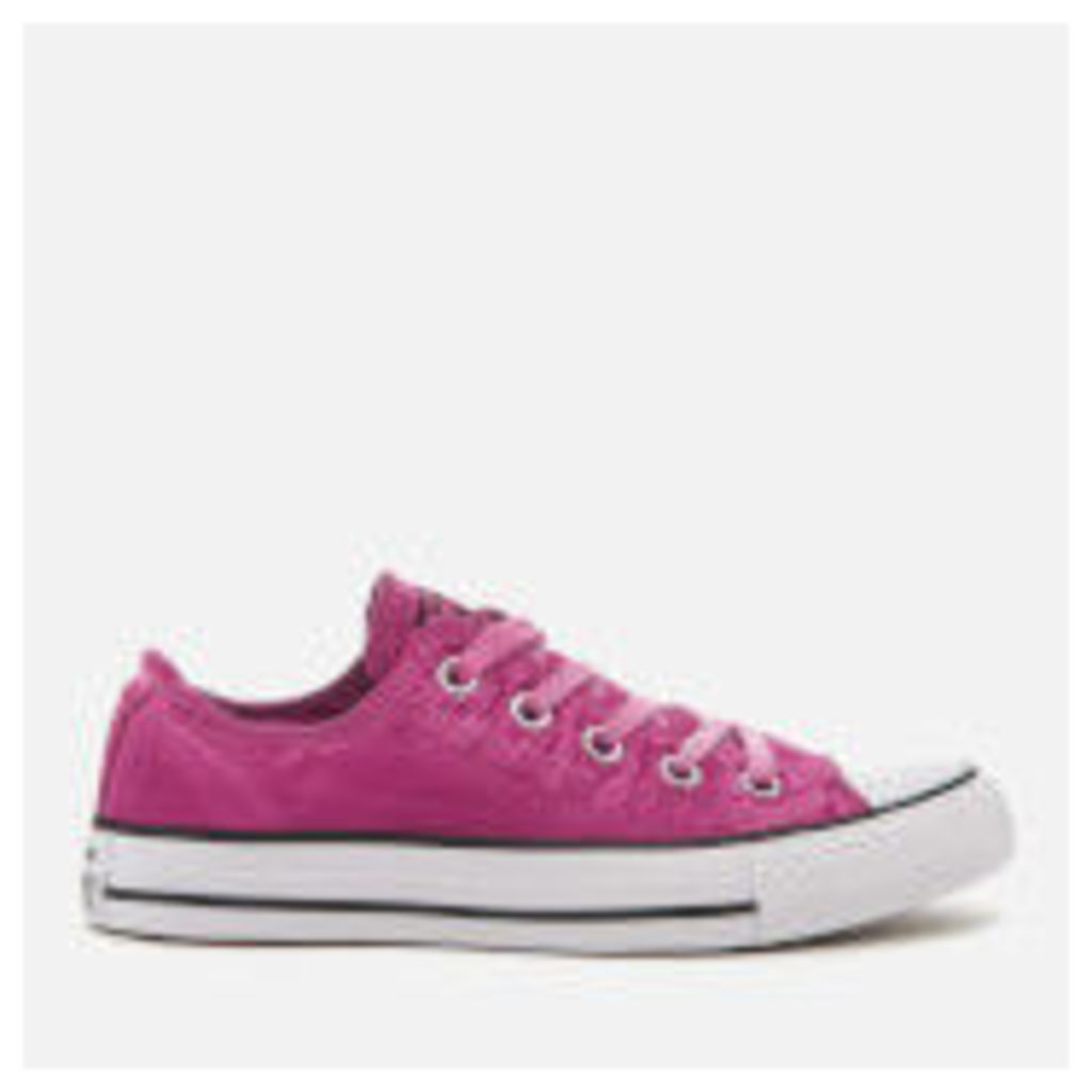 Converse Women's Chuck Taylor All Star Ox Trainers - Magenta Glow/Black/White