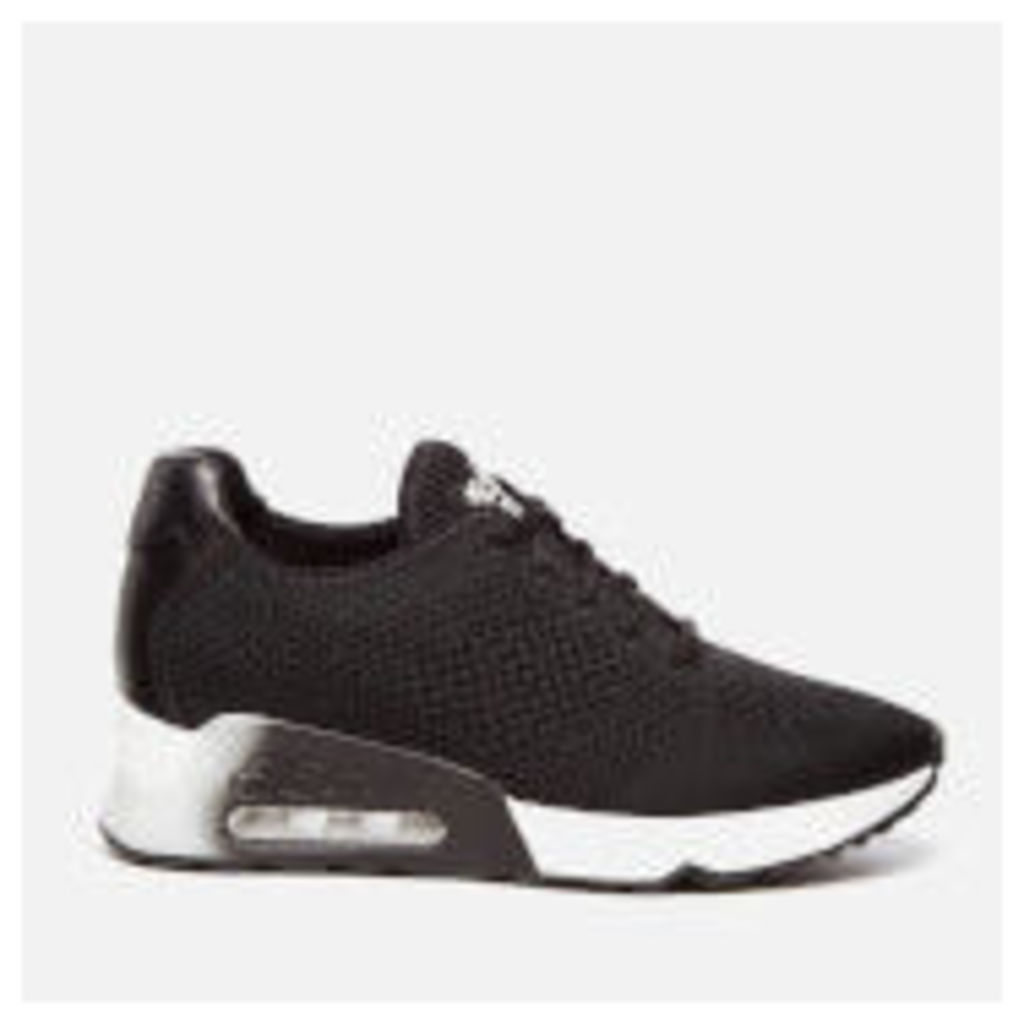 Ash Women's Lucky Knit Trainers - Black/Black
