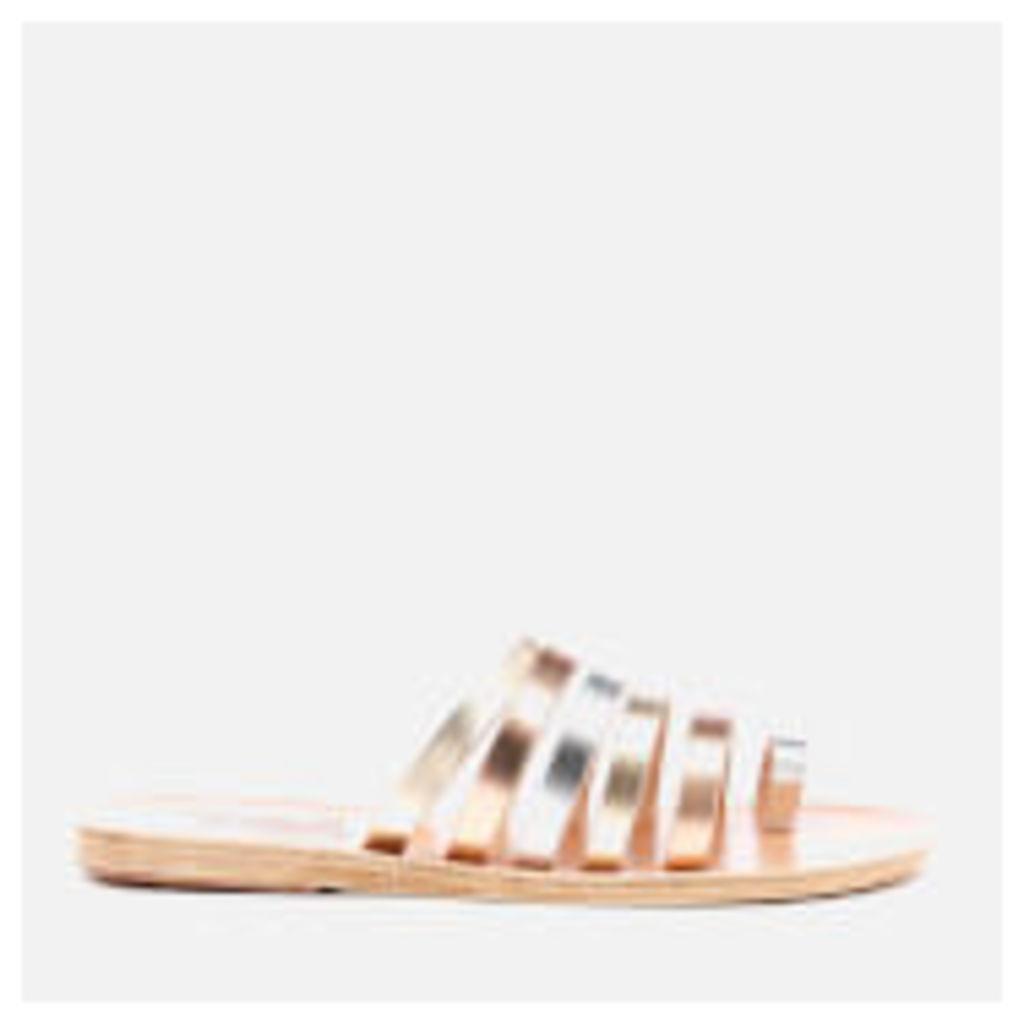 Ancient Greek Sandals Women's Niki Metal Mix Vachetta Leather Sandals - Pink Metal/Silver/Platinum - EU 39/UK 6