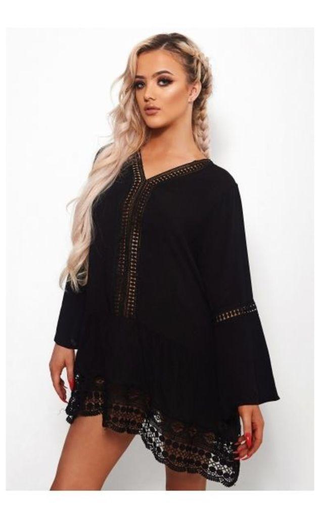 Vila Black Crochet Cover Up
