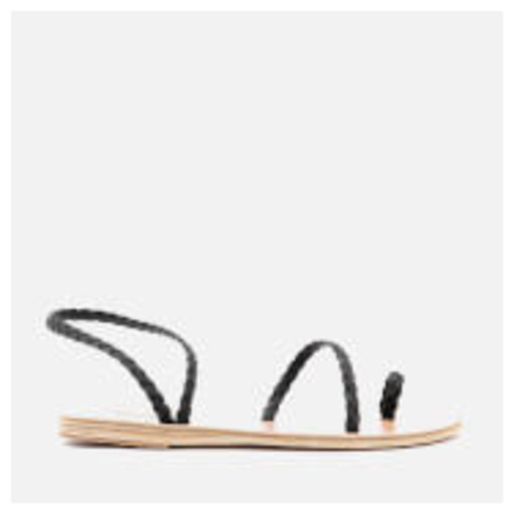 Ancient Greek Sandals Women's Eleftheria Pleated Multi Strap Sandals - Marine