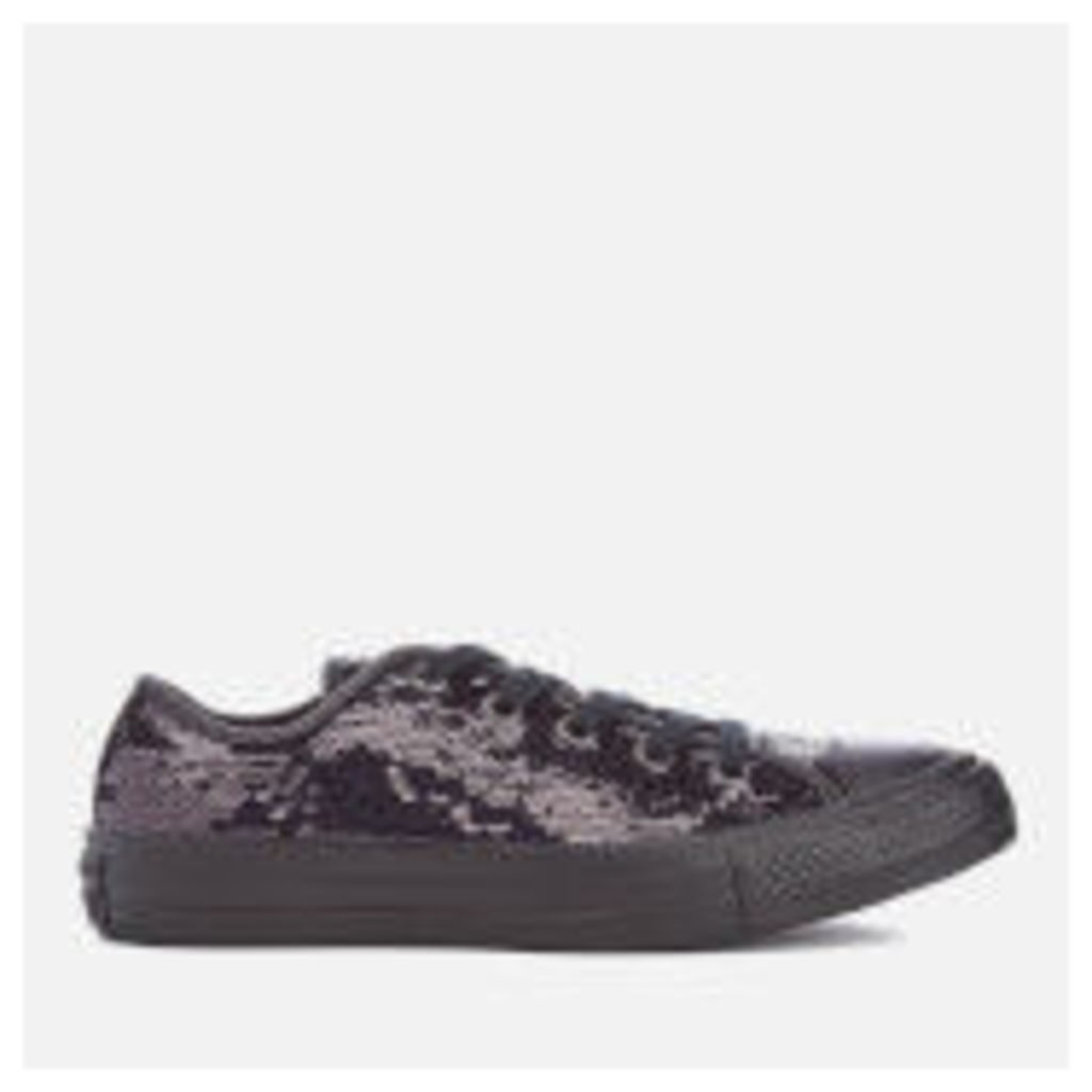 Converse Women's Chuck Taylor All Star Holiday Party OX Trainers - Black Sequin