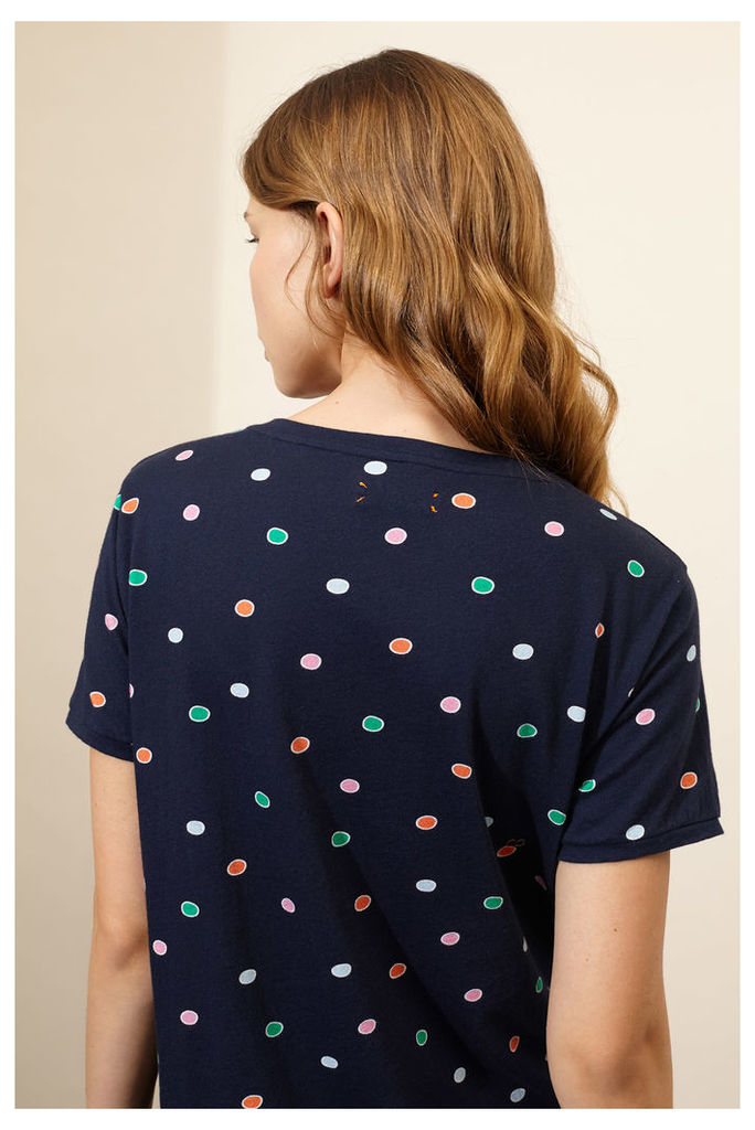 Navy Rainbow Dot T-Shirt