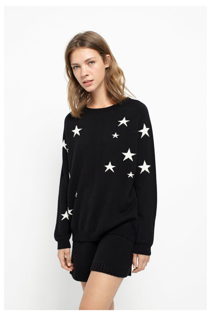 Star Black Slouchy Cashmere Sweater