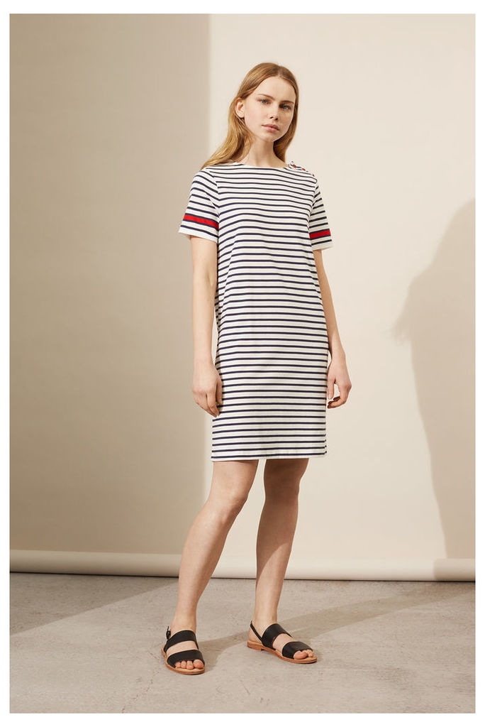 NEW Navy Breton Stripe Dress