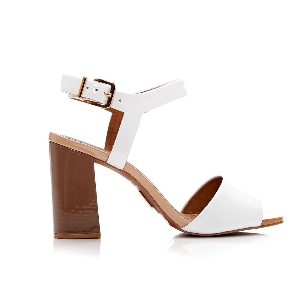 Moda in Pelle Massima White Medium Casual Sandals