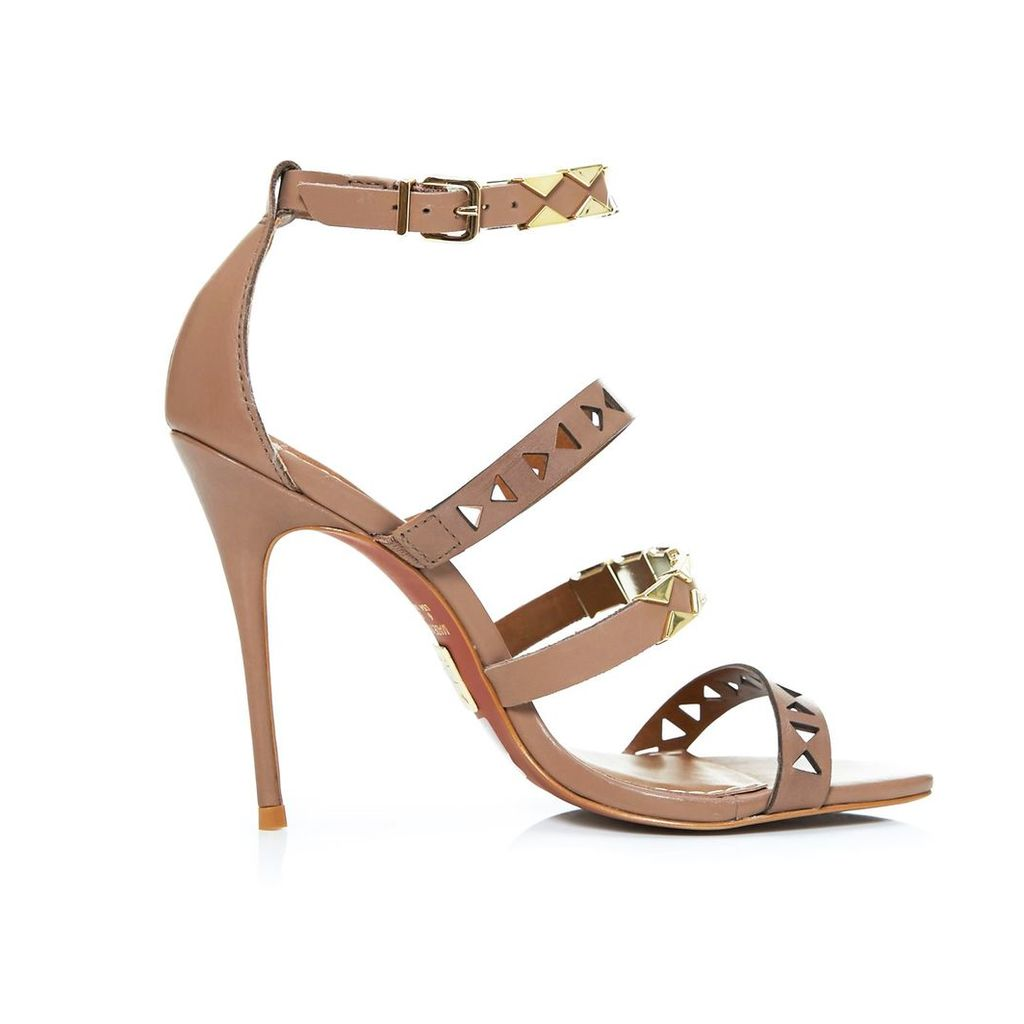 Moda in Pelle Ricci Tan High Occasion Sandals