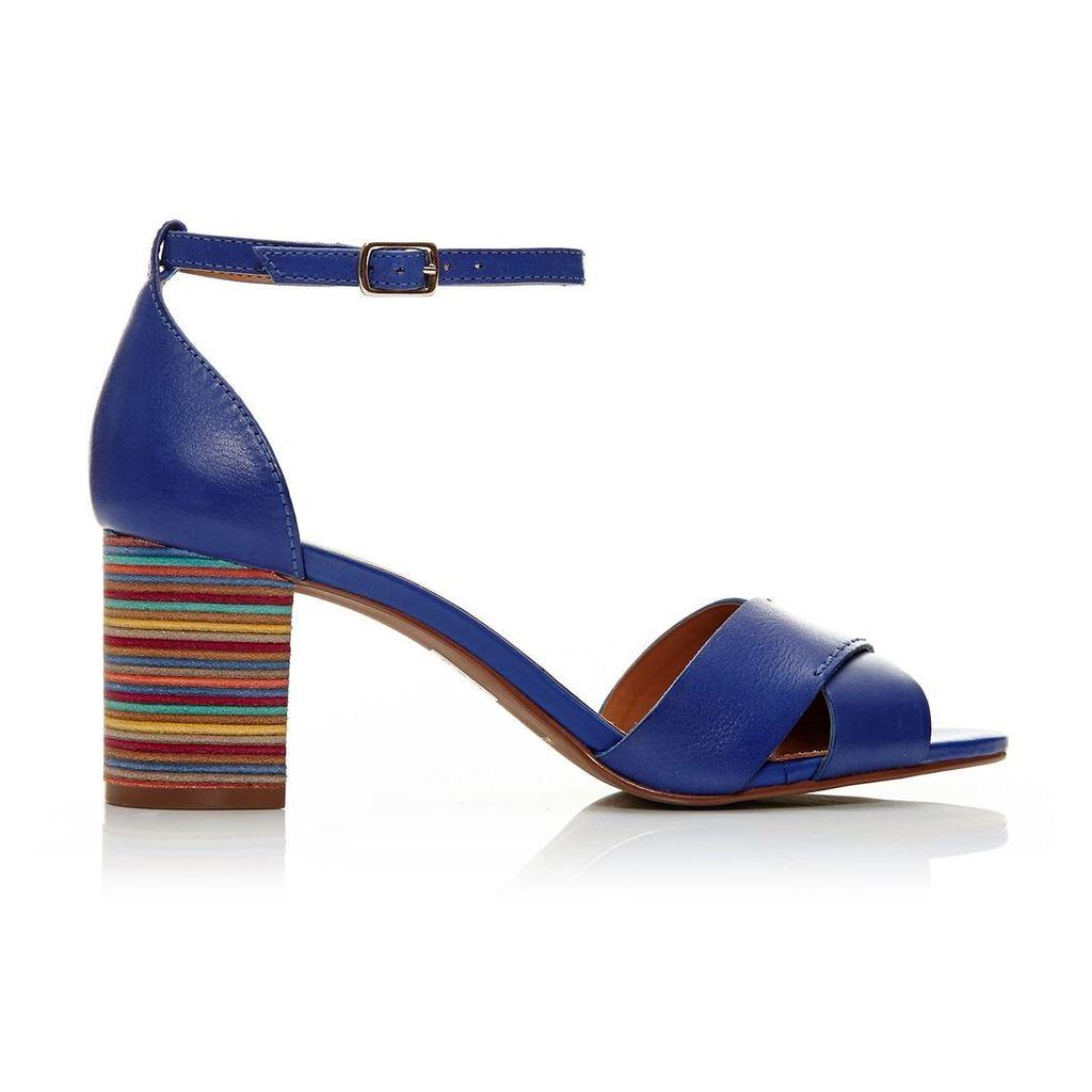 Moda in Pelle Liano Cobalt Blue High Smart Sandals