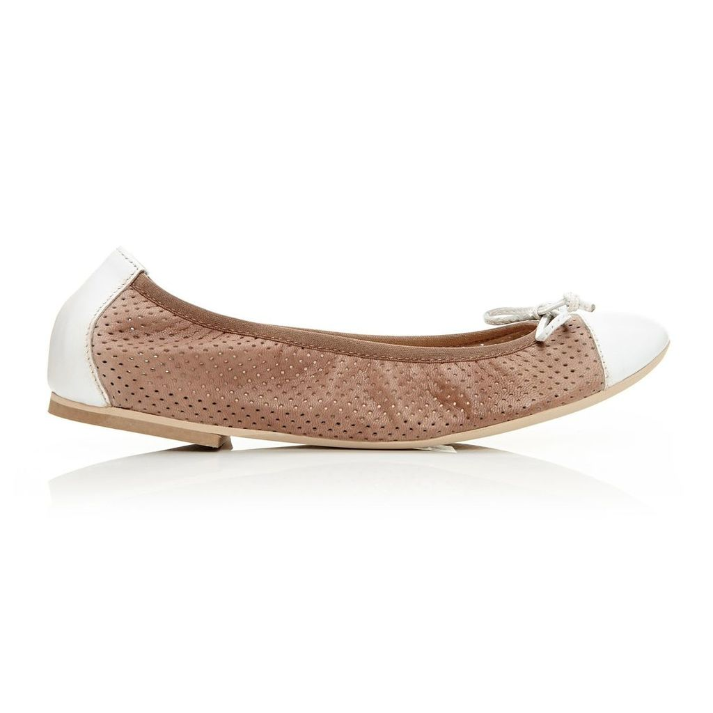 Moda in Pelle Frayza Taupe Flat Casual Shoes