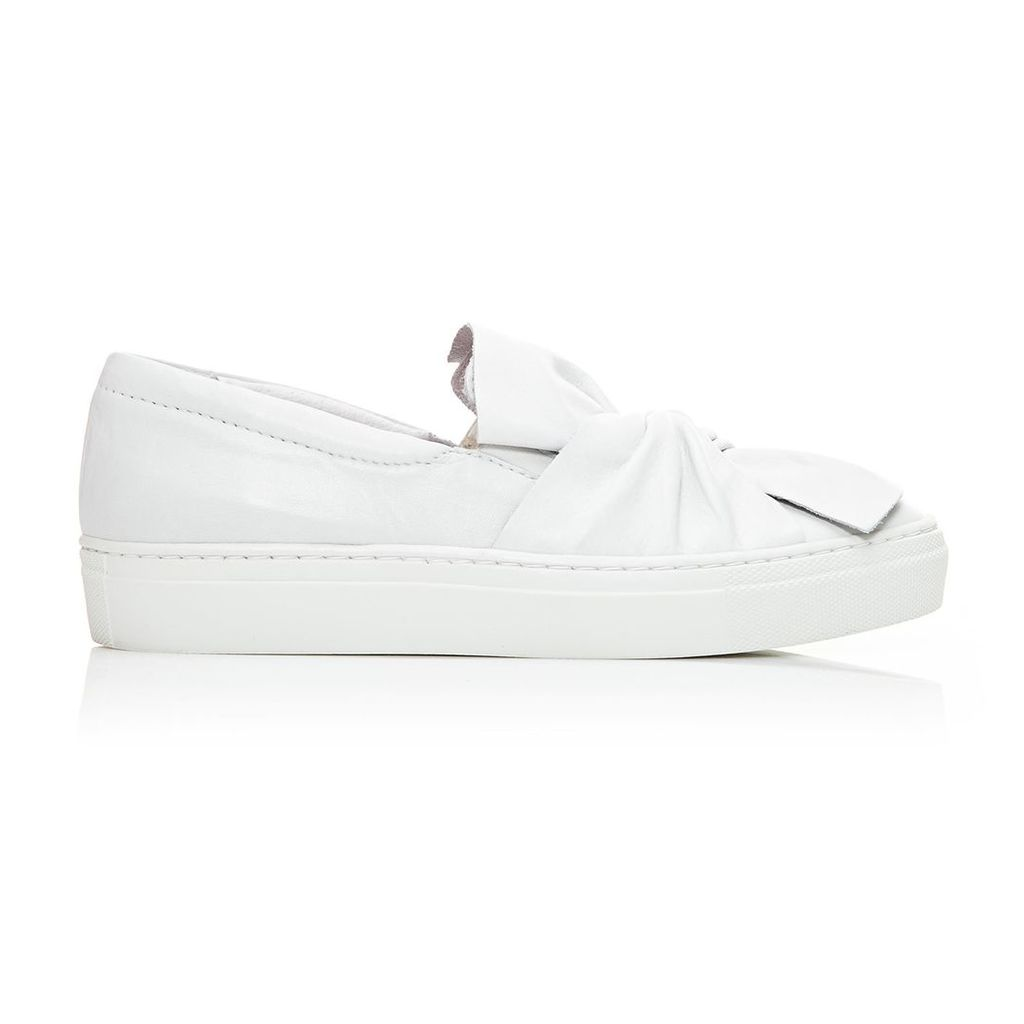 Moda in Pelle Annie White Low Leisure Shoes