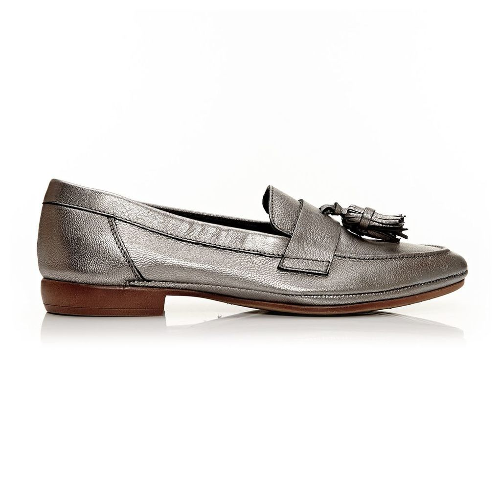 Moda in Pelle Erine Pewter Flat Casual Shoes