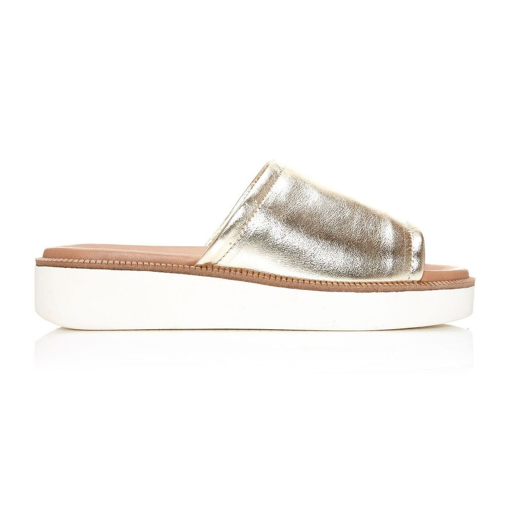 Moda in Pelle Nieves Gold Low Casual Sandals