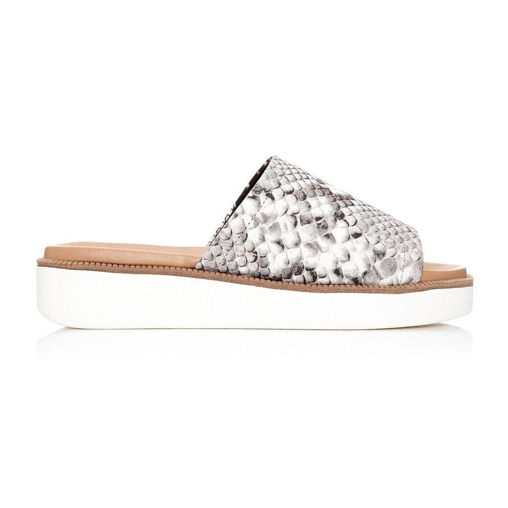 Moda in Pelle Nieves Grey Low Casual Sandals