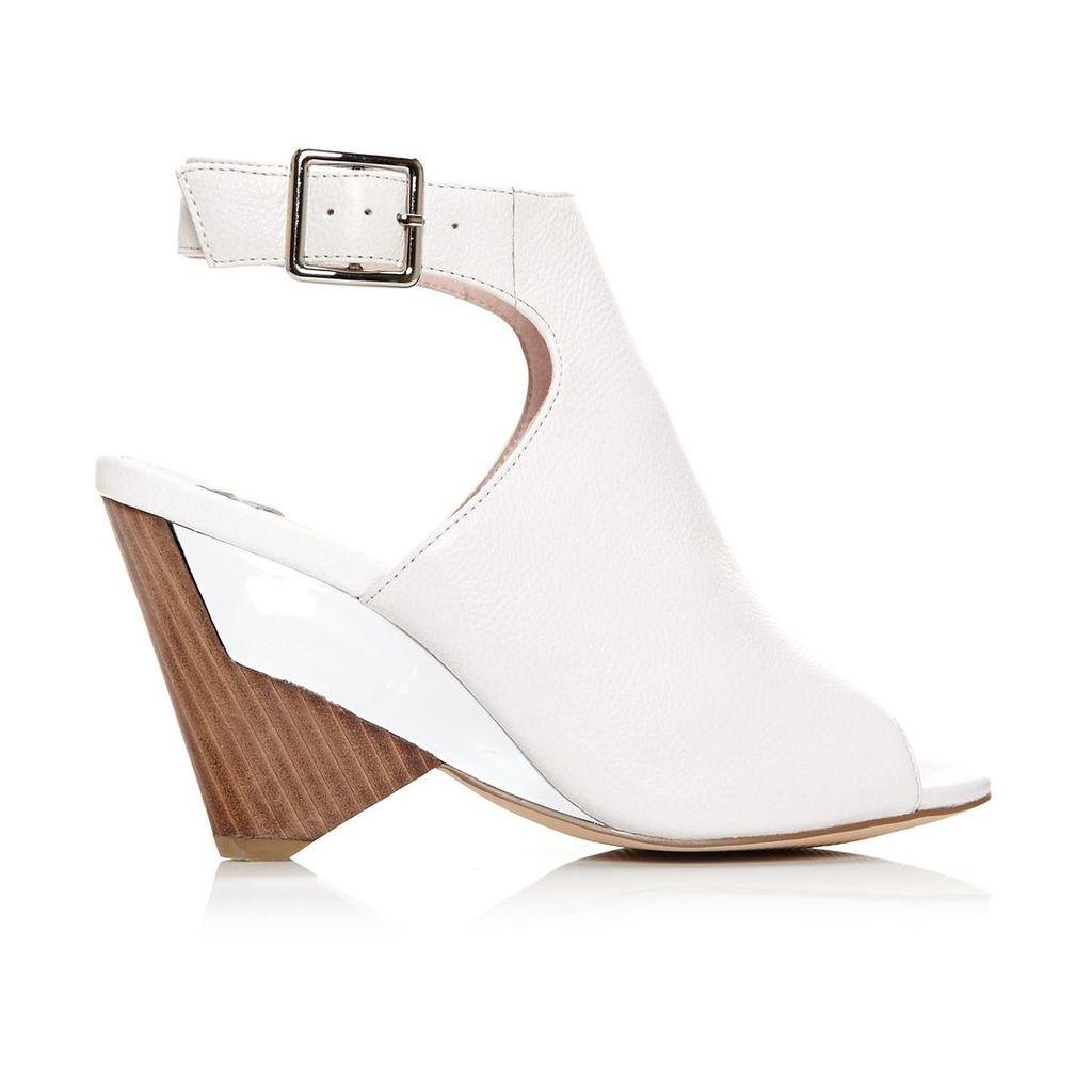 Moda in Pelle Lanyi White High Smart Sandals