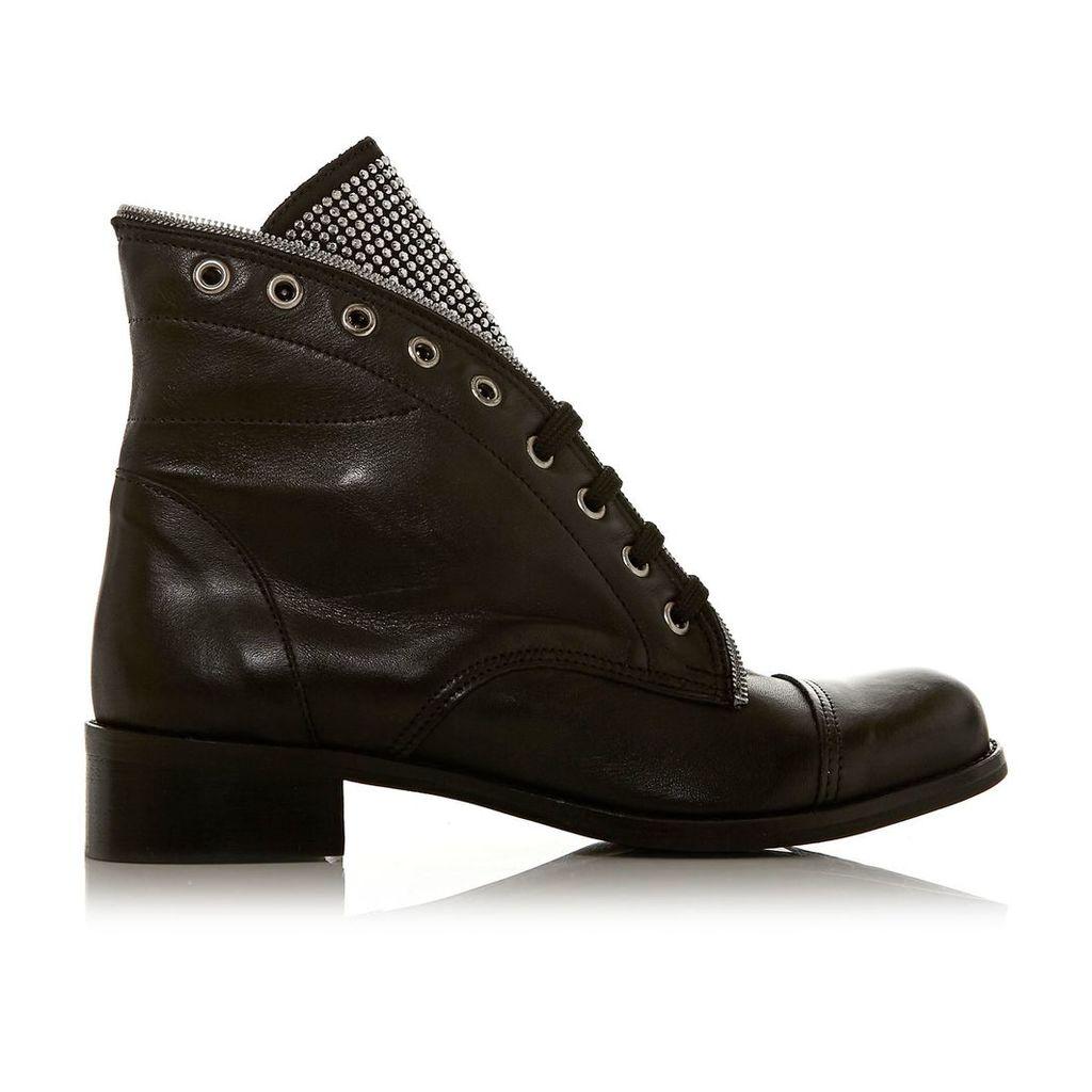 Moda in Pelle Ciani Black Low Casual Short Boots