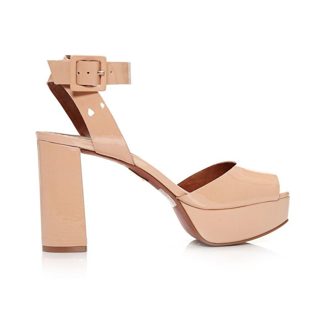 Moda in Pelle Leora Nude High Smart Sandals
