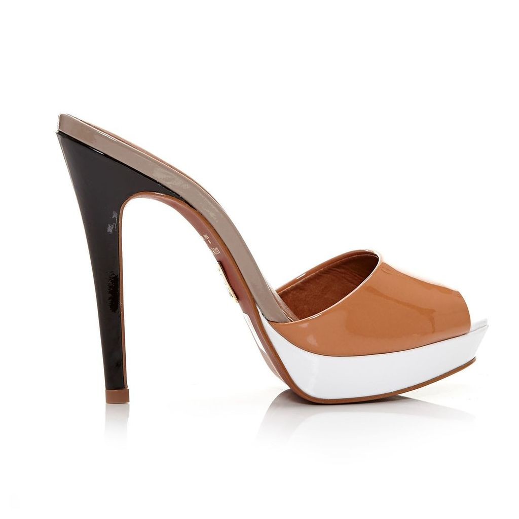 Moda in Pelle Letizia Tan Very High Smart Sandals