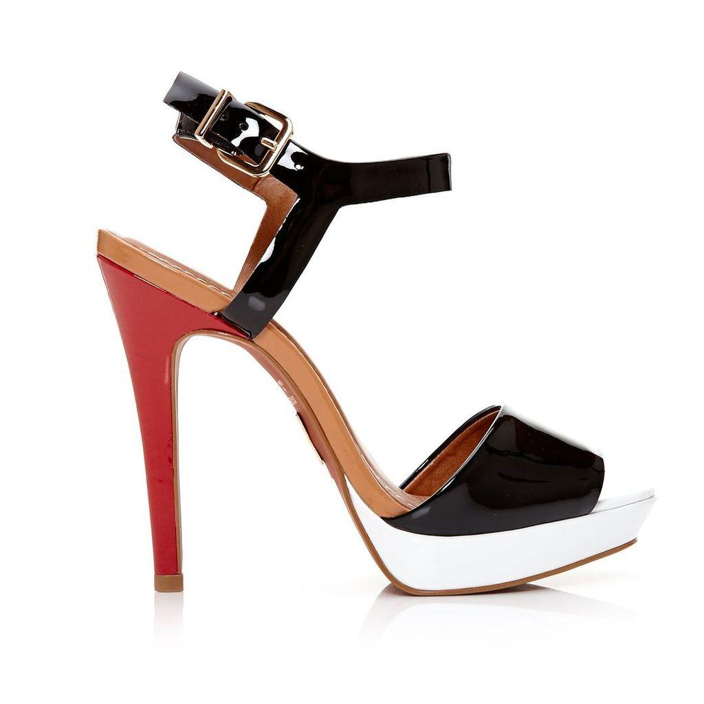 Moda in Pelle Romia Black Very High Smart Sandals