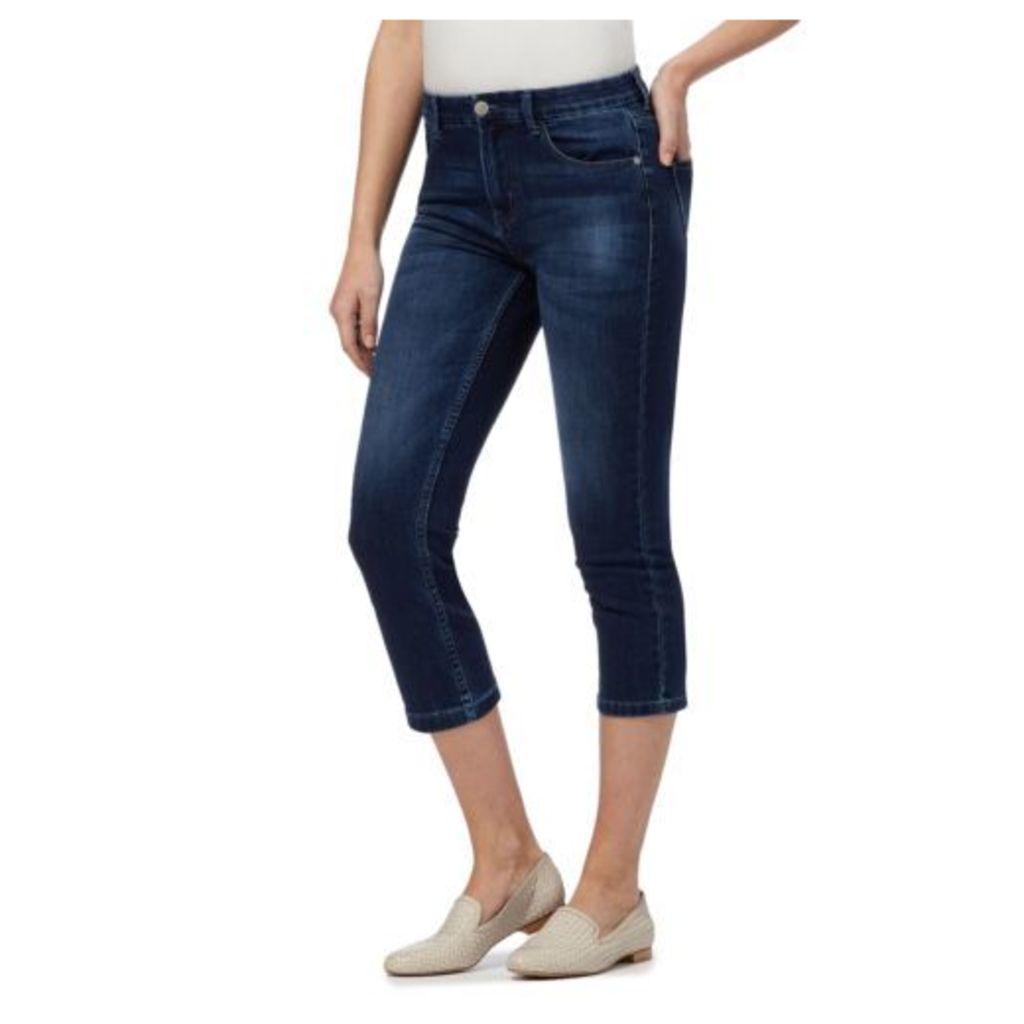 Rjr.John Rocha Womens Blue Mid Wash 'Elsa' Straight Leg Cropped Jeans 14R
