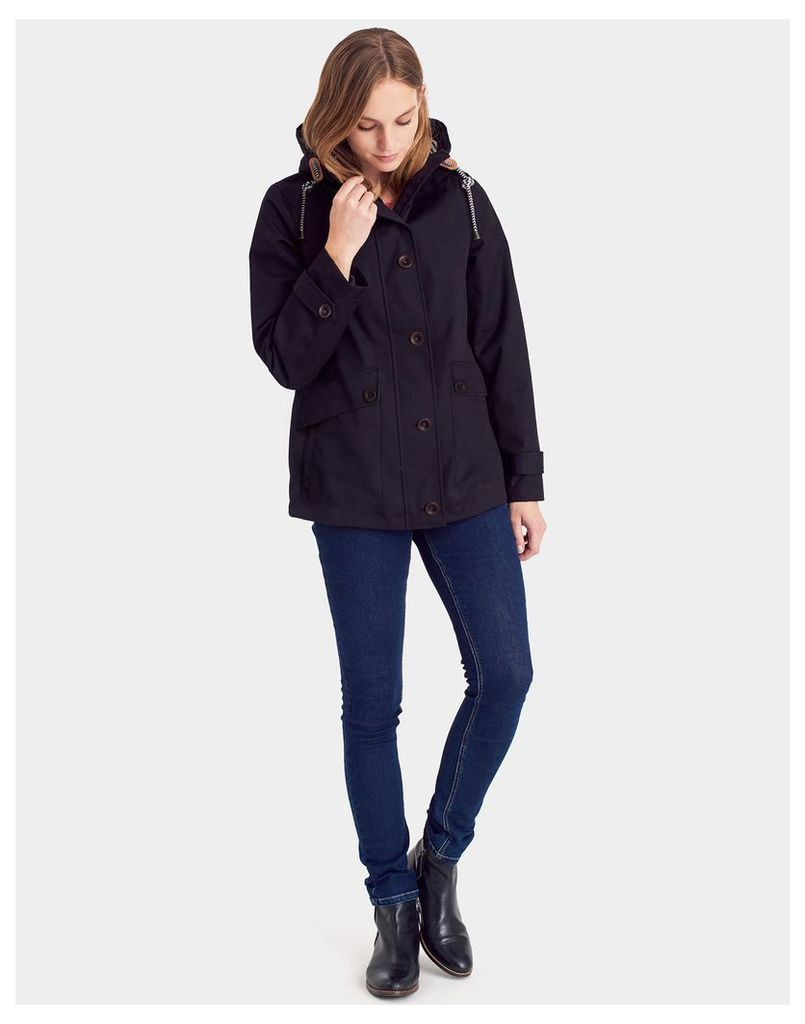 Black Coast Waterproof Jacket  Size 8 | Joules UK