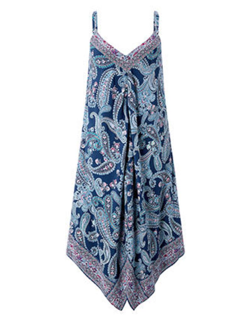 Ellie Patch Print Hanky Hem Dress