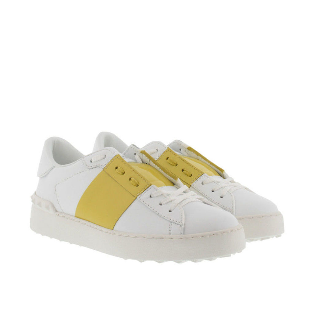 Valentino Sneakers - Bicolor Rockstud Sneaker Bianco/Acid Yellow - in green, white - Sneakers for ladies
