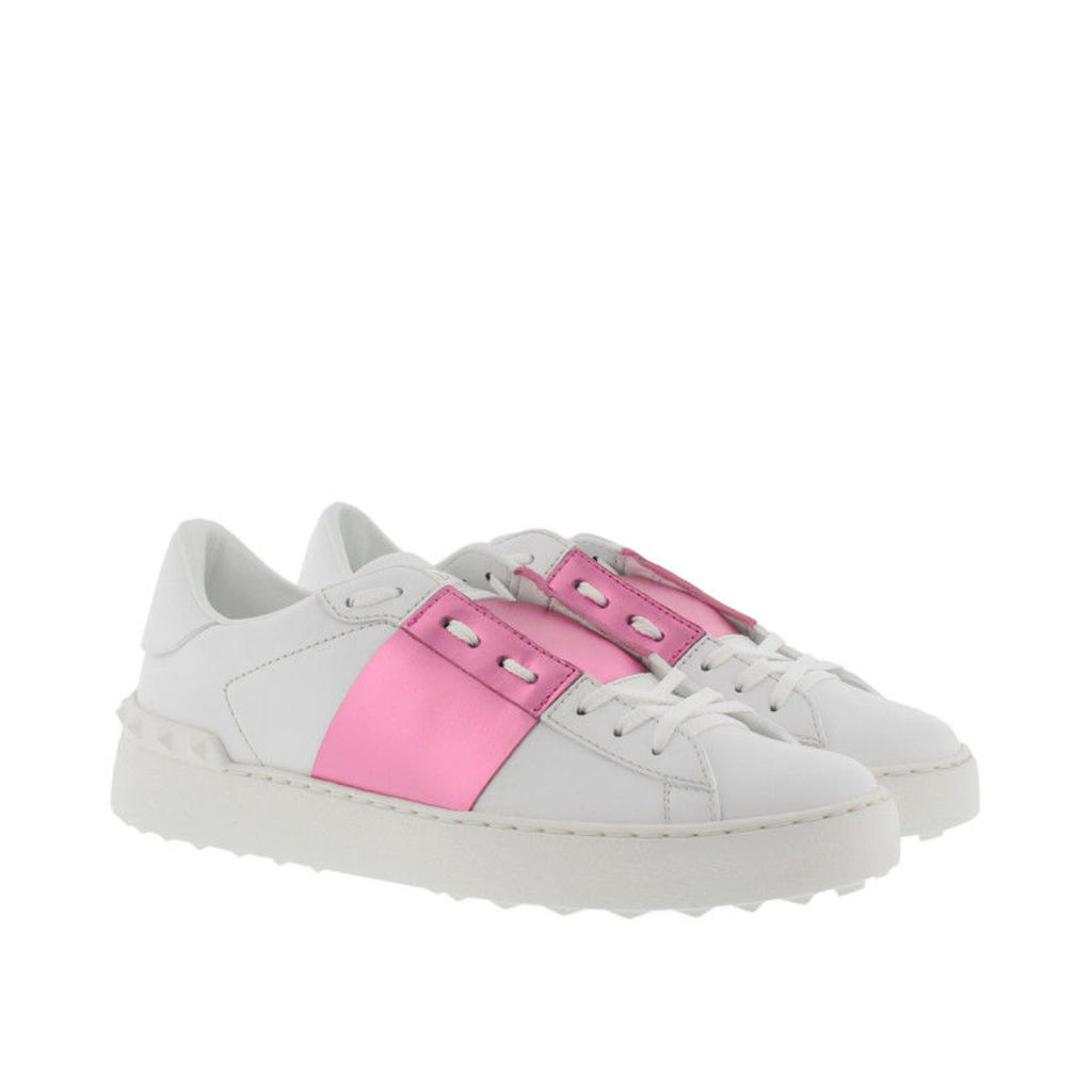 Valentino Sneakers - Bicolor Rockstud Sneaker Bianco/Paradise Rose - in rose, white - Sneakers for ladies