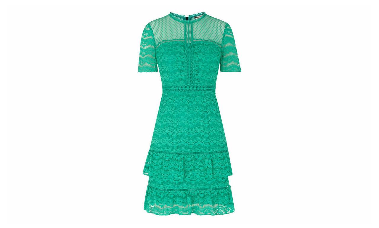 Indira Lace Ruffle Dress