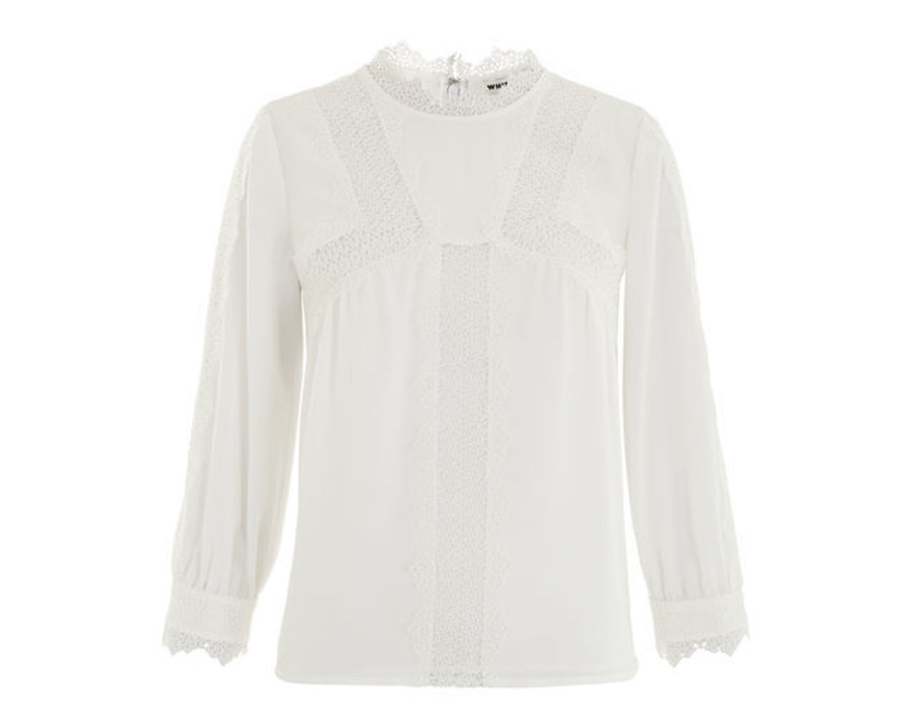 Tabby Lace Panelled Blouse