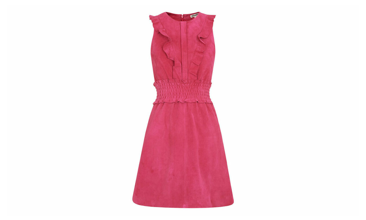Louise Frill Suede Dress