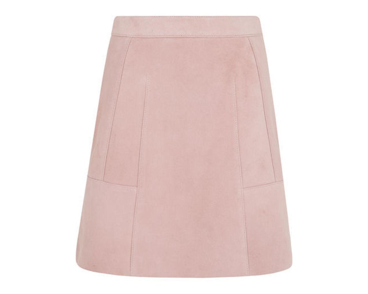 Suede Aline Detail Skirt