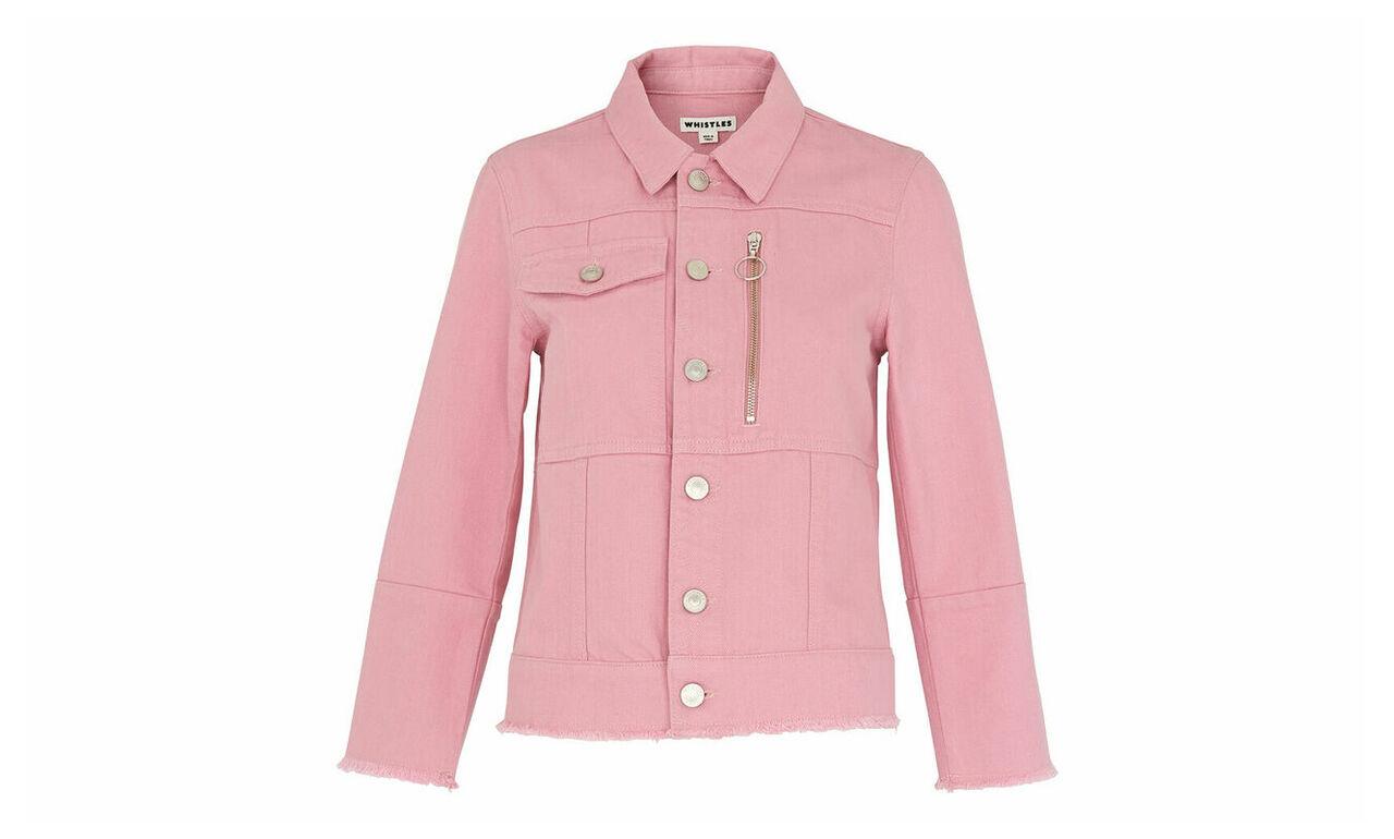 Pink Ring Puller Denim Jacket