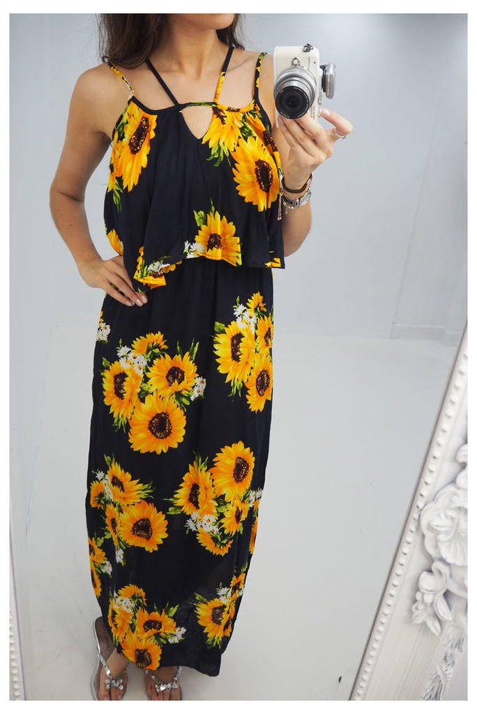 Dianna sun flower printed maxi dress