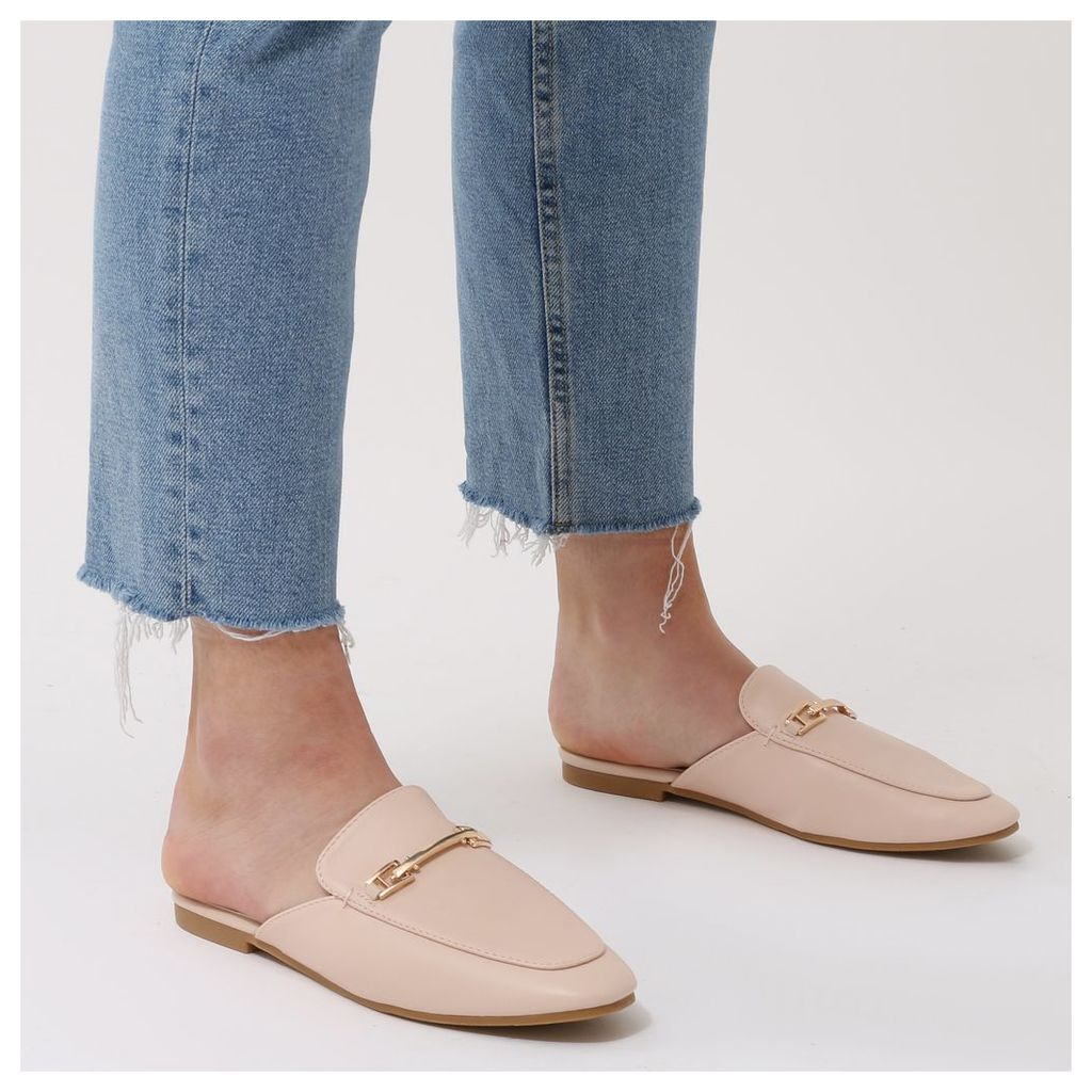 Shoreditch Backless Loafers in Baby, Pink