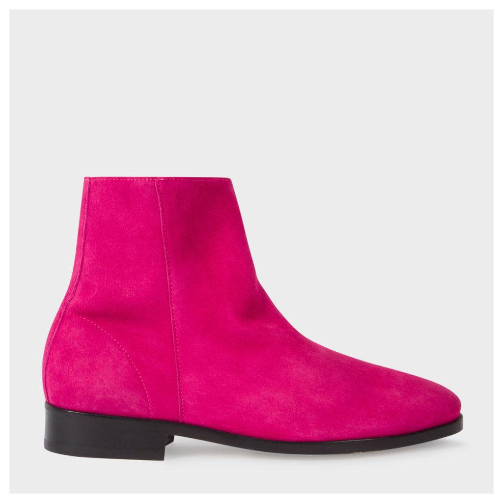 Women's Fuchsia Suede 'Brooklyn' Boots