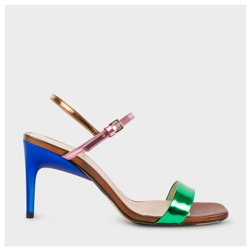 Women's Colour-Block Leather 'Nyla' Heeled Sandals