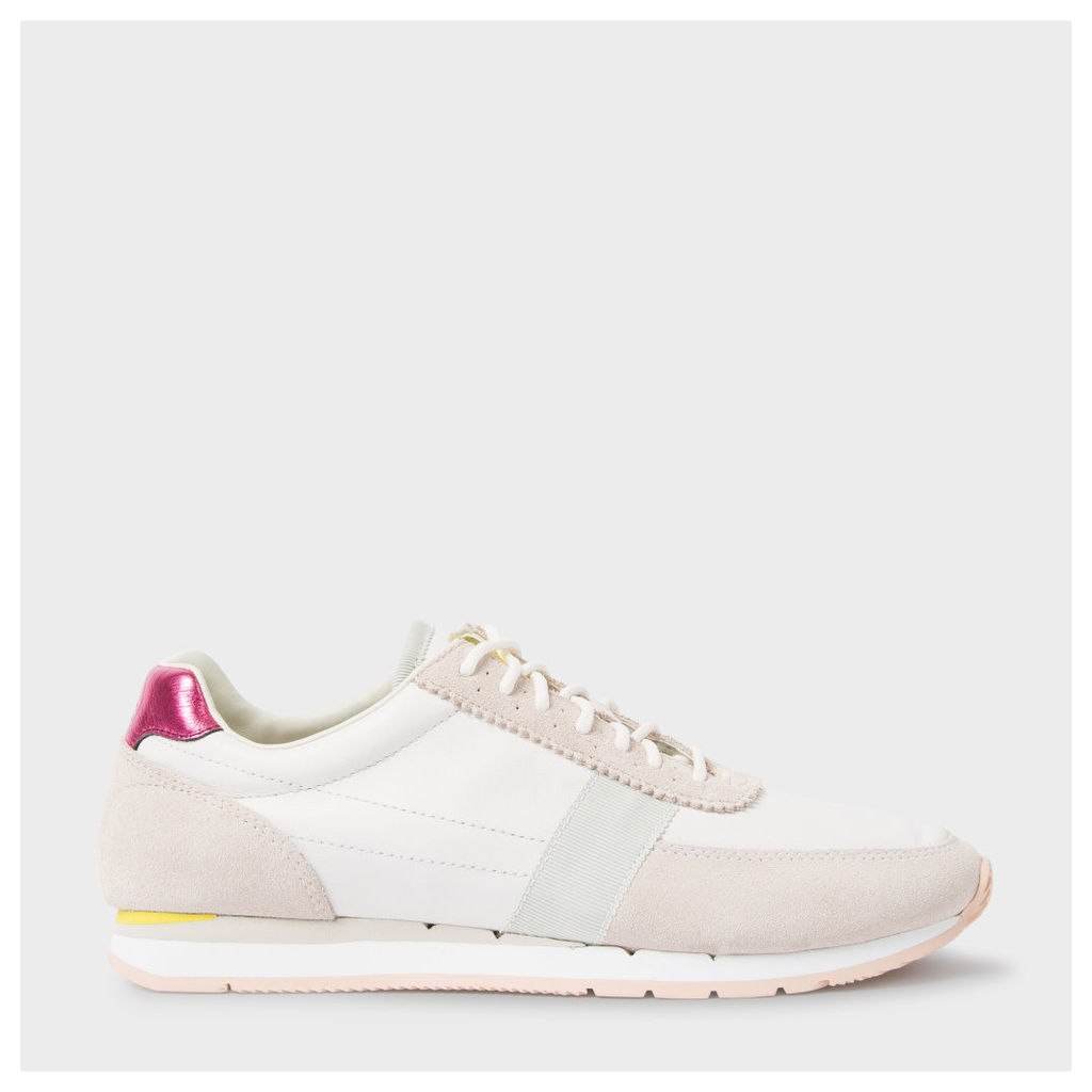 Women's Taupe Leather And Suede 'Moogg' Trainers