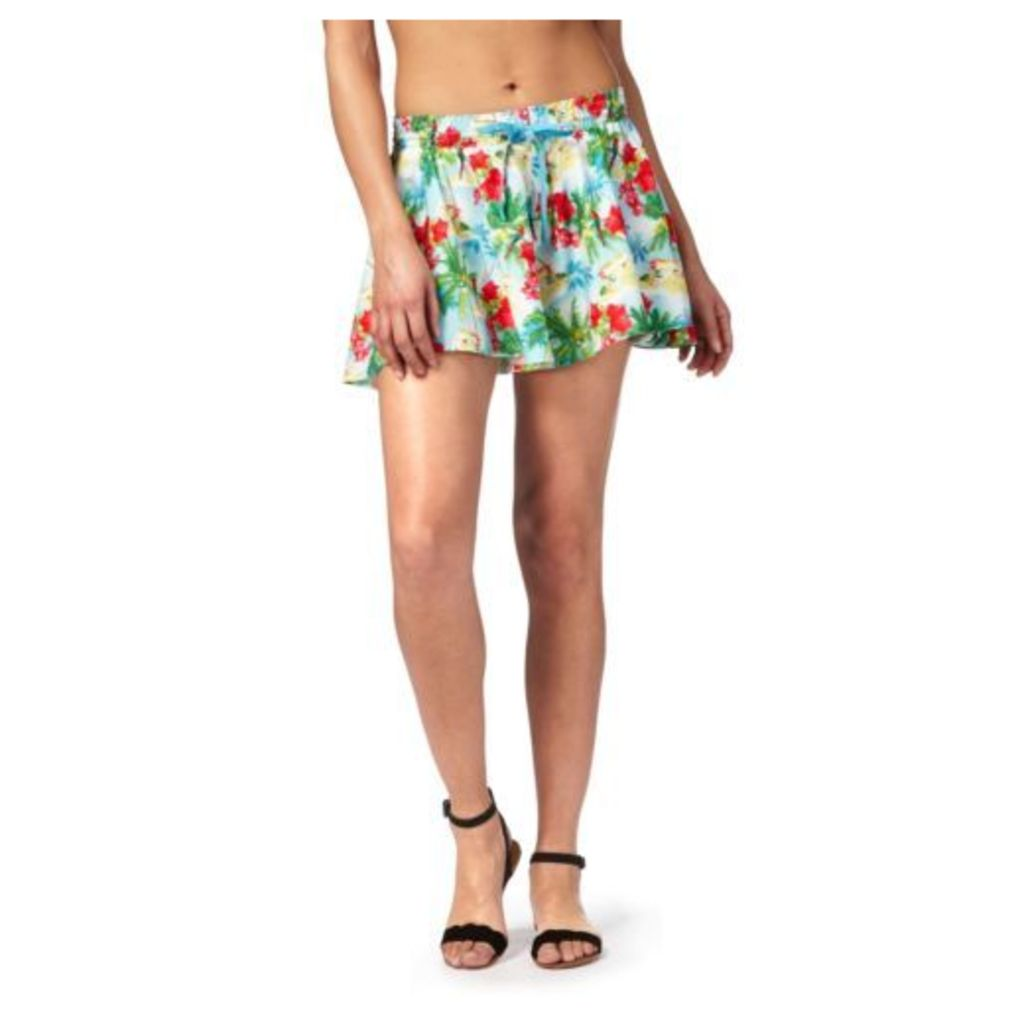 Floozie By Frost French Womens Multi-Coloured Island Print Shorts From Debenhams
