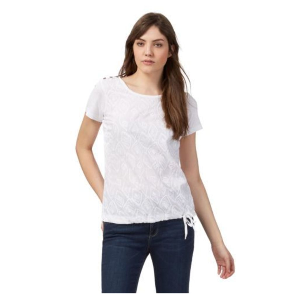 Mantaray Womens White Feather Embroidered Top From Debenhams 20