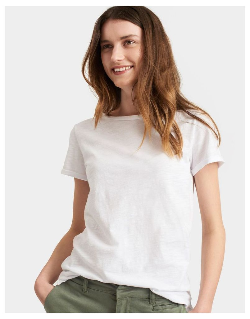 Bright White Nessa Jersey T Shirt  Size 6 | Joules UK