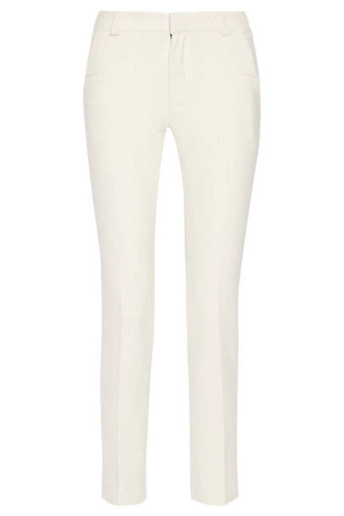 Roland Mouret - Lacerta Stretch-crepe Slim-leg Pants - Off-white
