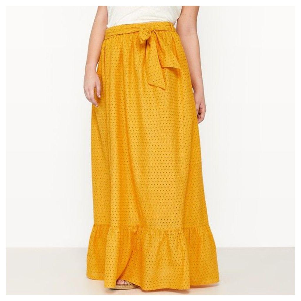 Long Broderie Anglaise Petticoat Skirt