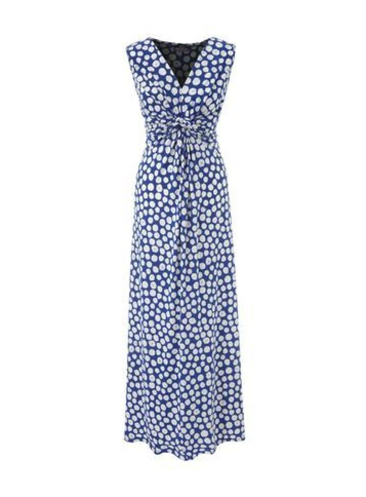 Grace Blue Twist Knot Maxi Dress, Blue