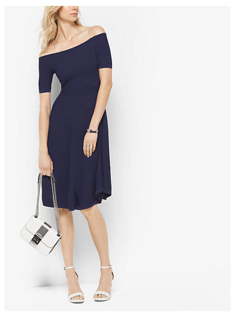 Stretch-Viscose Off-The-Shoulder Dress