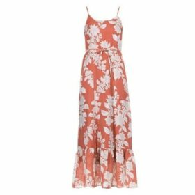 Cream  GIOLA  women's Long Dress in Orange