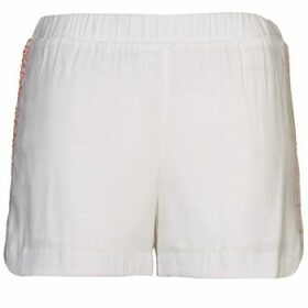 Color Block  ALFREDA  women's Shorts in White