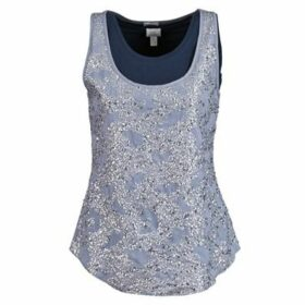 Alba Moda  LAGENSHIRT MIT TOP  women's Vest top in Blue