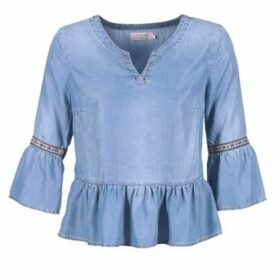 Cream  GRY DENM  women's Blouse in Blue